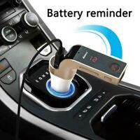 Wireless LCD Bluetooth Car MP3 FM Transmitter AUX USB New Handsfree Charger D7X3