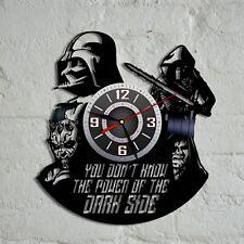 Star Wars Darth Vader Yoda Vinyl Record Wall Clock Home Room Decor Best Gift