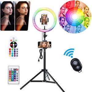 "10"" LED Ringlicht Ringleuchte Lampe Handyhalter Kit Selfie mit Stativ Fotografie"