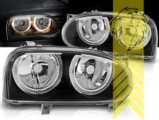 DEPO Angel Eyes Scheinwerfer für VW Golf 3 Limousine Variant Cabrio schwarz