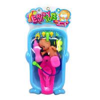 Badewanne Babypuppe Puppenhaus Badezimmer Spielzeug Set für Kinder & Babys