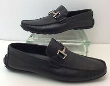 "88fbd267ba10b Steve Madden ""P-Ansell"" Soft Black Leather Slip On Driving Moccasins Loafers  8.5"