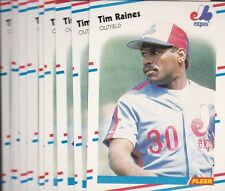 1988 FLEER BASEBALL LOT (10) TIM RAINES #193 EXPOS NMMT/MINT *L2036