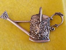 brooch.( Garden interest) stamped 925. Vintage style solid silver water can