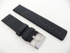 Herren Uhrenarmband Echtleder 24 / 24 mm Schwarz für DIESEL Uhren DZ 4341 4361