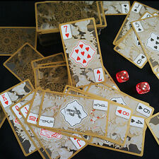 Waterproof Transparent PVC Poker Gold Edge Playing Cards Dragon Card Novelty.