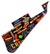 Pickguard Pick Guard Graphical Scratchplate Gibson Les Paul Guitar Neon Collage