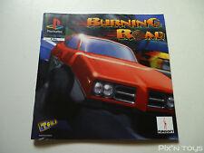 SONY PLAYSTATION 1 / Notice Instruction / Burning Road [ Version PAL ]