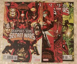 Deadpools Secret Secret Wars #1-4 Lot Marvel Comics 2015 Complete Set