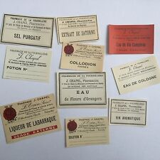 20 ETIQUETTES PHARMACIE 1900 20 Antique French Labels PHARMACY NANTES