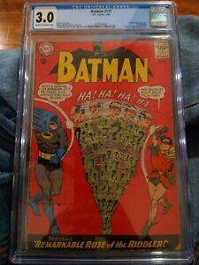 BATMAN #171 CGC 3.0 1ST SILVER AGE RIDDLER
