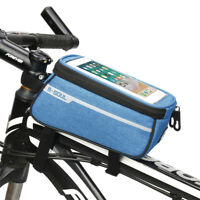 Waterproof Large Bike Frame Front Top Tube Pannier Pouch Bag For 6'' Smartphone