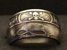 24K Pure Silver Coin Ring | Memento Mori | Sizes 5-15