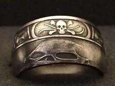 24K Pure Silver Coin Ring | Memento Mori | Sizes 5-15