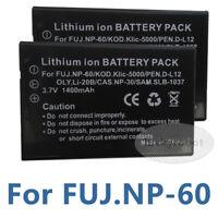 2X Battery for INSIGNIA NS-DCC5HB09 NSDCC5HB09 NP-60  NS-DV1080P NS-DV720PBL