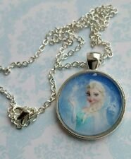 Disney Frozen Queen Elsa Pendant Necklace Lovely Princess Gift Birthday Party