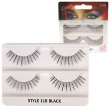NEW DIMPLES FALSE EYELASHES 118 WITH GLUE 2 PAIRS HANDMADE NATURAL LOOK