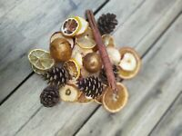Hand made pot pourri ideal Christmas gift 100% natural fragrances dried fruits