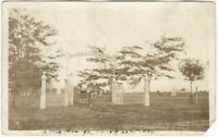 1909 Rose Hill Cemetery Indiana Real Photo Postcard