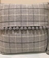 "Balmoral Wool Tartan 16"" Cushion Covers With Pompoms"