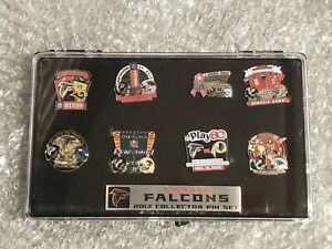2013 ATLANTA FALCONS GAME DAY PINS SET WITH CASE  Free Shipping