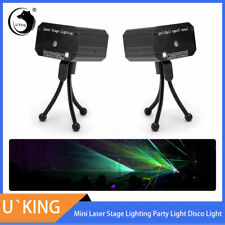 2X Laser Projector Stage Light Mini LED RG Lighting Xmas Party DJ Disco KTV Show