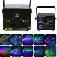 1W RGB Animation Laser Projector Light DMX ILDA DJ Party Club Bar Stage Lighting