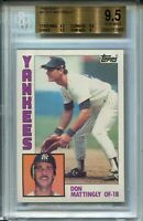 1984 Topps Baseball #8 Don Mattingly Rookie Card RC Graded BGS Gem Mint 9.5