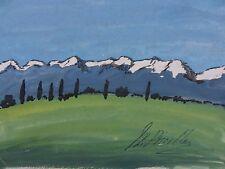"""John BOYNTON Priestley scrittore 1894-1984 originale firmato dipinto 'Mountain View"""""""