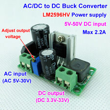 3.3V 5V 6V 9V 12V 24V Mini AC DC To DC Buck Step Down Adjustable Volt Converter