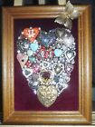 """Jewelry Art """" Heart's Shine""""  Heart, signed by Artist one of a kind piece"""