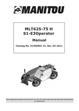MANITOU MLT625-75 H S1-E30 OPERATOR MANUAL REPRINTED COMB BOUND
