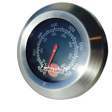 Replacement Flush Mount BBQ Smoker thermometer gas charcoal pit black accurate