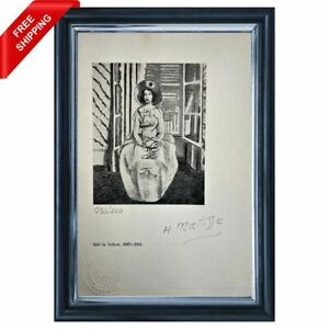 Henri Matisse Original Print - Signed and Stamped by Gallery with COA