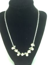Women's Charter By Macys Silver PEARL Style Necklace & Pin - $53 MSRP - 40% off