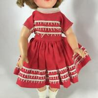 "1958 Shirley Temple Doll Outfit 9503 Only 12"" Tags Cotton Dress Loop Trim Ideal"