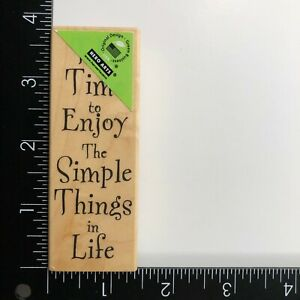 Hero Arts Time To Enjoy Simple Things in Life Wood Mounted Rubber Stamp F1843