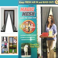 Main-libre magic mesh écran porte filet rideau magnétique fermeture insectes bouchon