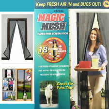Hand-free Magic Mesh Puerta de pantalla Net Cortina Cierre De Imán Insectos Tapón