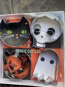 Meri Meri 4 Piece Halloween Skull, Cat, Pumpkin & Ghost Cookie Cutters - 946