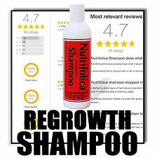 Nutrifolica Regrowth Shampoo DHT Hair Loss GROW THICK HEALTHY HAIR IN 30 DAYS