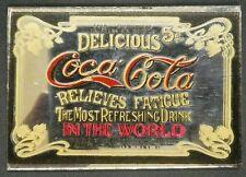"Dollhouse Miniatures Mirror Sign Advertising COCA COLA COKE 2 1/4"" x 1 1/2"""