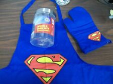 SUPERMAN APRON & OVEN MITT SET ADULT SIZE #sjan17-64