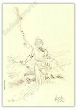 Ex-libris Le Gall Théodore Poussin La machette 50ex signé 21x29,7
