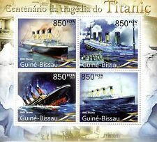 Guinea-Bissau 2011 MNH Titanic Centenary Tragedy 4v M/S Ships Sinking Stamps