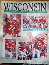 1998 UNIVERSITY OF WISCONSIN BADGERS FOOTBALL PROGRAM VS OHIO