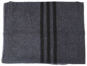 NEW Military Anthracite Grey Blanket Army Surplus Bivouac 200 x 150cm Camping