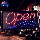 Flashing LED Sign Open 48x24cm Shop Signboard Logo Light ESIGN4801