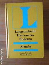 DICCIONARIO MODERNO ALEMAN-ESPAÑOL - ESPAÑOL-ALEMAN - LANGENSCHEIDT (A2)