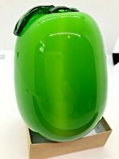 Home Decor Green Apple Pear Glass Fruit 257.9 Grams